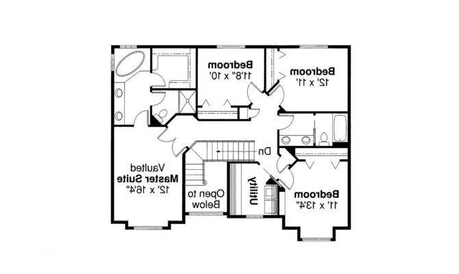 Traditional House Plan Westhaven Floor