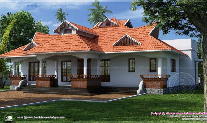 Traditional Kerala Style One Floor House Home