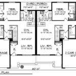 Traditional Ranch Duplex Home Plan