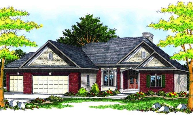 Traditional Ranch House Plan Architectural