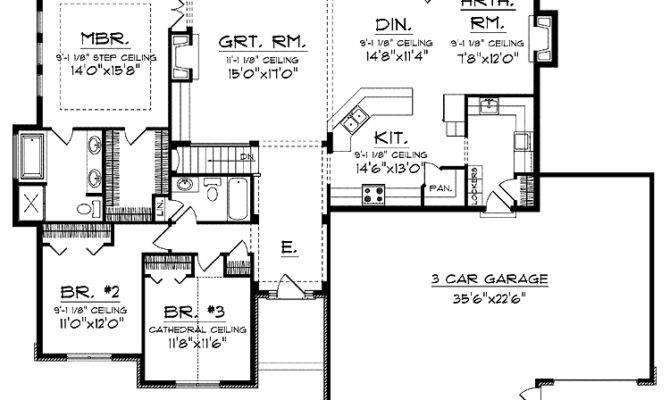 Traditional Ranch Open Floor Plan