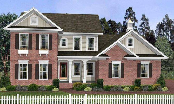 Traditional Two Story Home Plan Architectural