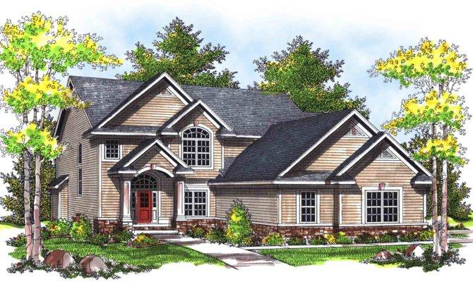 Traditional Two Story Home Plan Floor