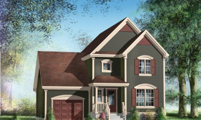 Traditional Two Story House Plan Architectural