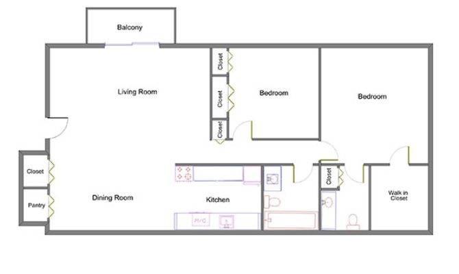 Trafalgar Square Apartments Westland Floorplan Plus