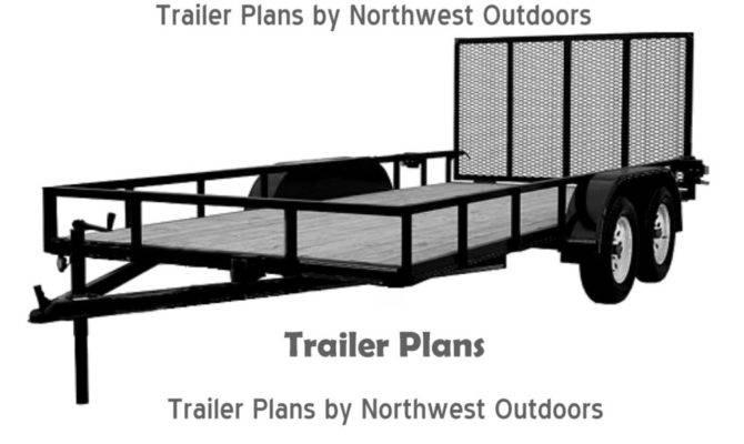 Trailer Plans Low Deck Tandem Utility