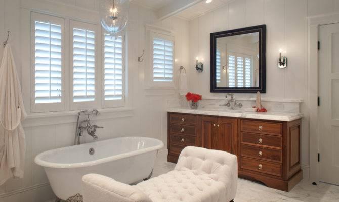 Transitional Beach House Style Bathroom San
