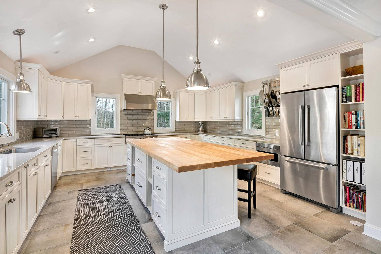 Transitional Kitchen Cathedral Ceiling Ocean New Jersey Design