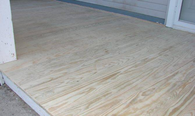 Treated Plywood Porch Floor