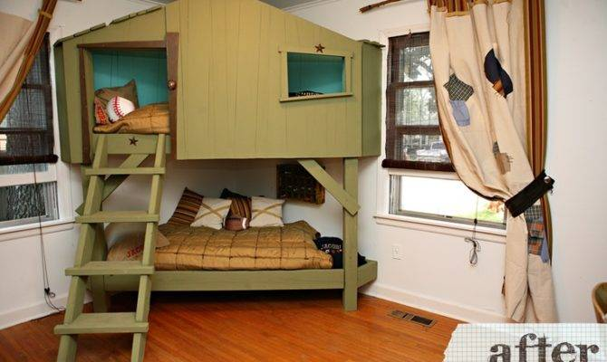 Tree House Bunk Beds Room Pinterest