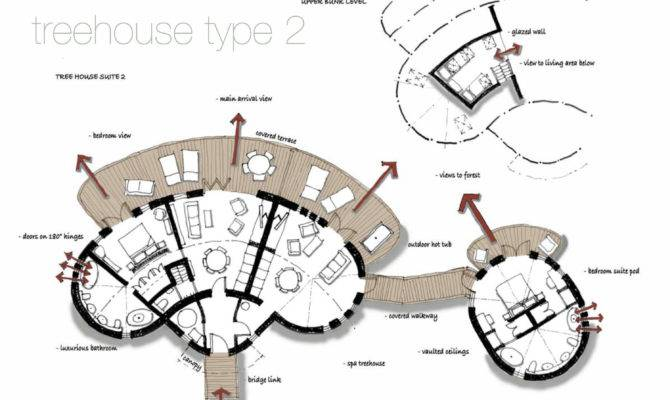 Tree House Floor Plans Treehouse