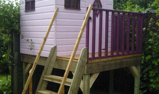 Treetops Treehouse Painted Unpainted Playhouse Ebay