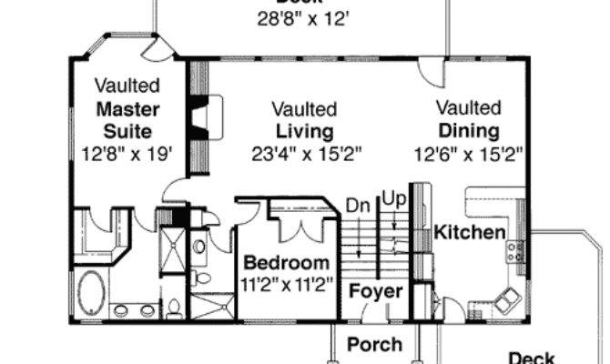 Tri Level House Plan Loft Overlook