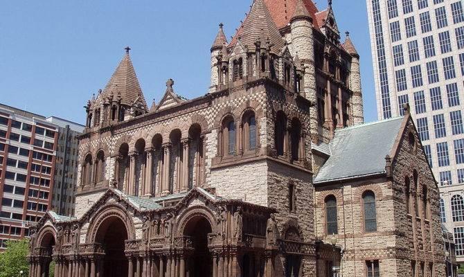 Trinity Church Boston Richardsonian Romanesque Designed Henry