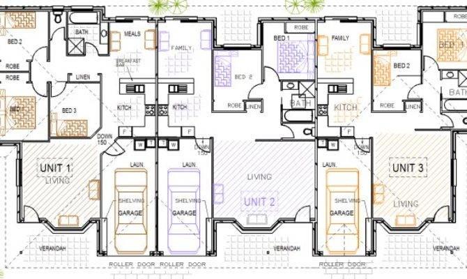 Triplex Designs Steel Kit Homes Floor Plans Duplex