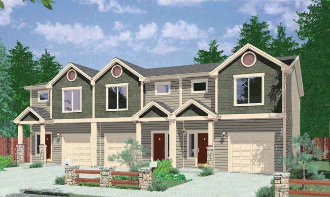 Triplex House Plan Bedroom Units