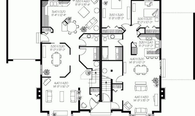 Triplex House Plans Bedrooms