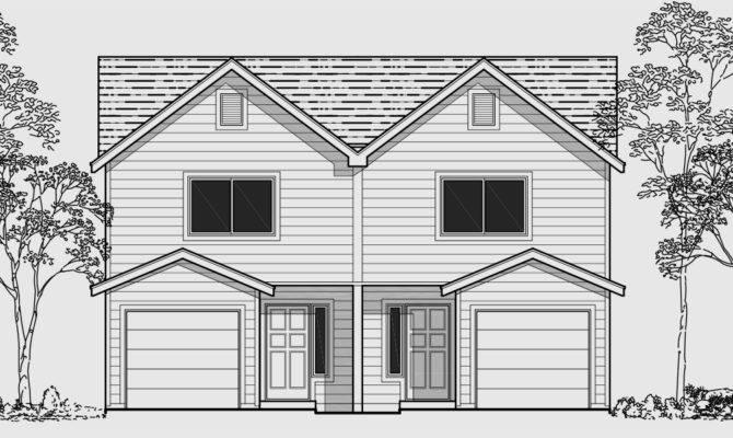 Triplex House Plans Corner Lot Multifamily