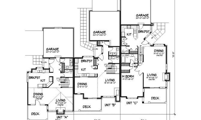 Triplex House Plans Designs Home Deco