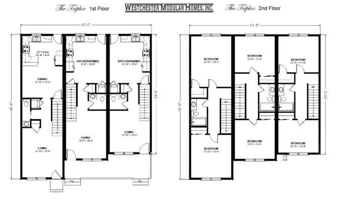 Triplex House Plans Floor