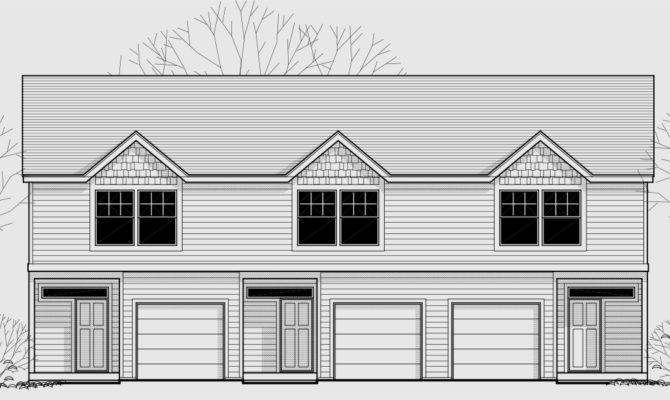 Triplex House Plans Garage Home Design Style