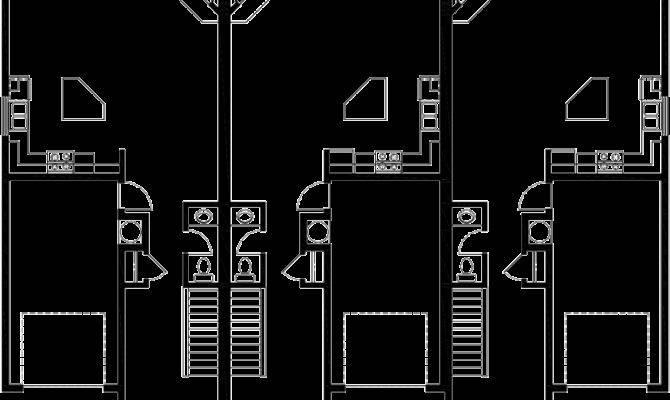 Triplex House Plans Garage