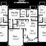 Triplex House Plans Garage