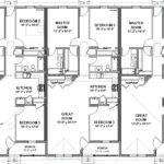Triplex House Plans Unit Beds