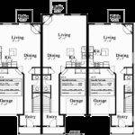 Triplex House Plans Unit Multiplex
