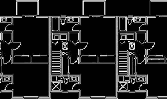 Triplex Plans Small Lot House Row