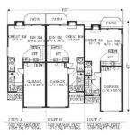 Triplex Single Story Plans Joy Studio Design