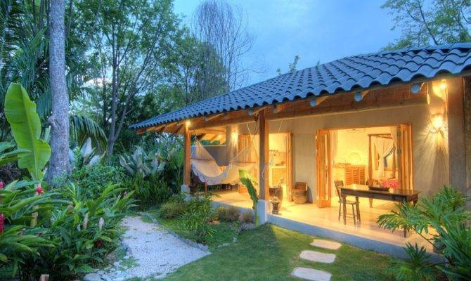 Tropical Beach Terrace Small Bungalow House