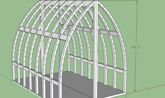 Trying Draw Bow Roof Gothic Arch Greenhouse