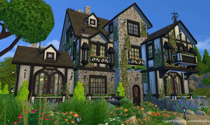 Tudor Country Estate Building World Sims