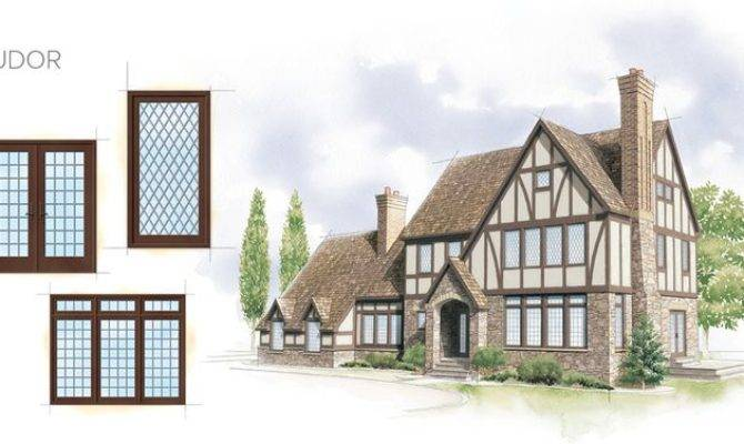 Tudor Home Style Window Door Overview Architectural Drawings Pint