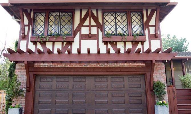 Tudor Style Home Window Boxes Wood Accents