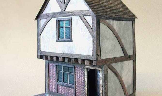 Tudor Town House Card Model Kit Purple Bob Hobbies