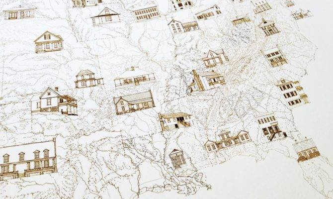Turn Centuries State Architecture Map Drawing