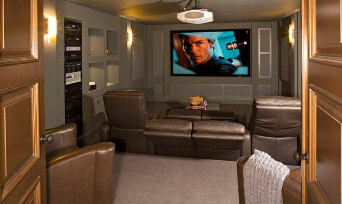 Turn Small Basement Into Cool Home Theater Design Bob Michels