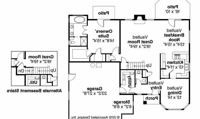 Tuscan House Plan Mansura Floor