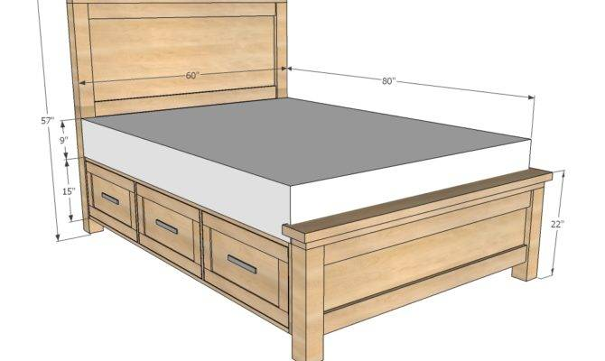 Twin Bed Frame Drawers Plans Woodideas