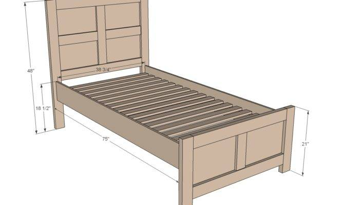 Twin Bed Frame Plans Diy Blueprints