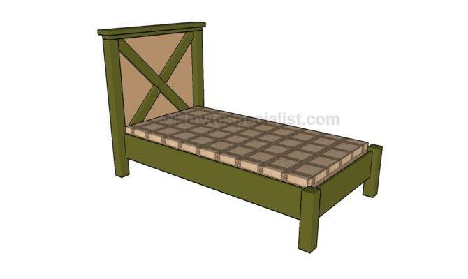 Twin Bed Frame Plans Howtospecialist Build Step