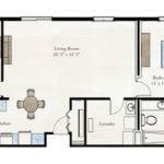 Two Bedroom Apartment Floor Plan Larksfield Place