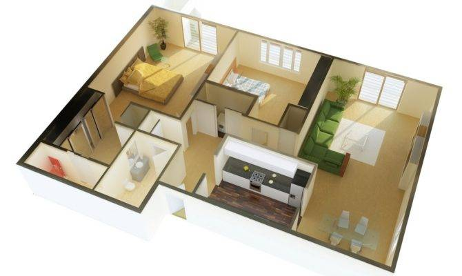 Two Bedroom Apartment House Plans Architecture Design