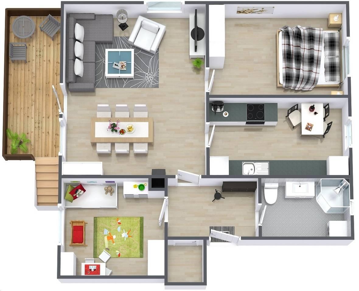 Two Bedroom Apartment House Plans Architecture Design House Plans 81783