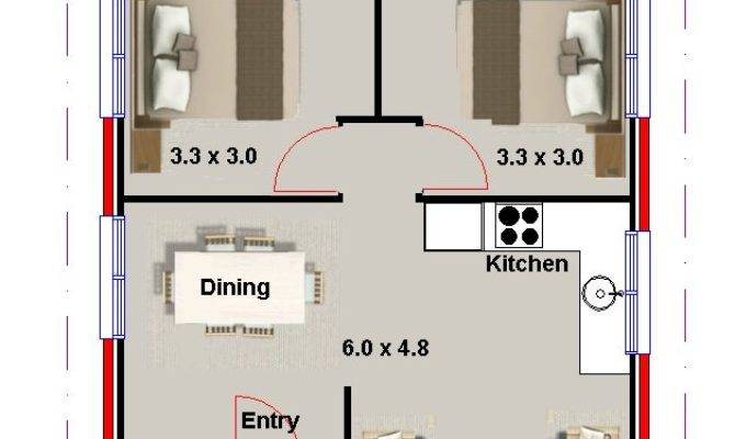 Two Bedroom Bath House Plans Real Estate