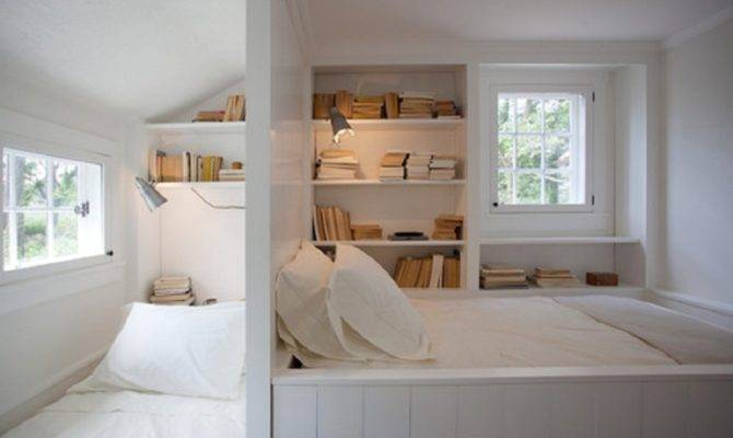 Two Bedroom Book Storage Design Small Space