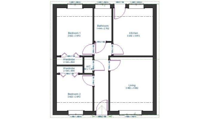 Two Bedroom Bungalow Plans Brierley