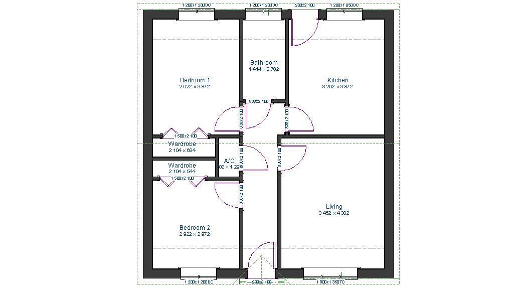 Stunning 3 Bedroom Floor Plan Bungalow Ideas House Plans